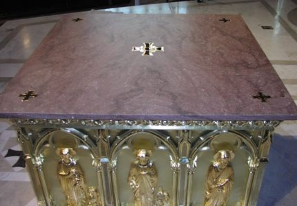 Waterjet Cut Venetian Marble with Brass Inlays